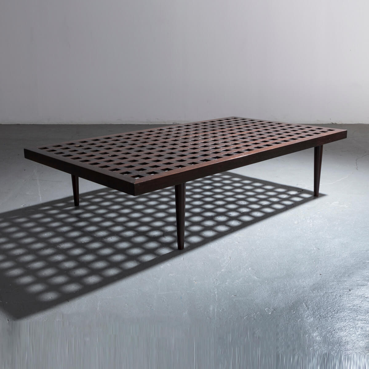 Checkerboard Coffee Table In Ebonized Wood By Joaquim Tenreiro (CT1023) | R  U0026 Company
